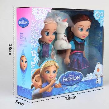 2017 2pcs Princesa Anna Elsa Dolls Para Meninas Brinquedos Princesa Anna Elsa Dolls Para Meninas Brinquedos 16cm Pequenas Bonecas de Plástico Congelad 1