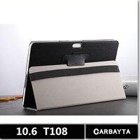 Carbayta T108 Tablet PCS 4g LTE Android Tablet pc10.6 inch Tablet bảo vệ trường hợp bìa trắng
