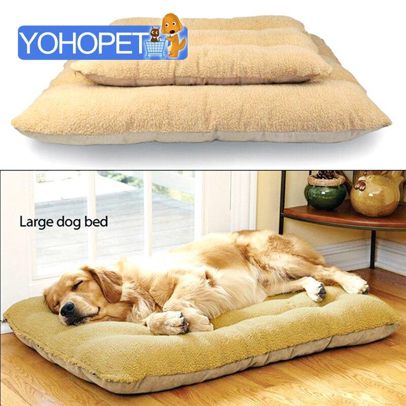 ترف كبير قابل للنزع البربرية الصوف 100% ٪ الكلب سرير/الحصير القط السرير الكلب السرير الفراش المزدوج ل كلب