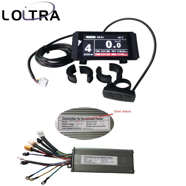 Colourful electric bike meter Ebike LCD display USB Port Speed limit anti-charge set Brushless  Sine Wave 9 Mosfet KT Controller
