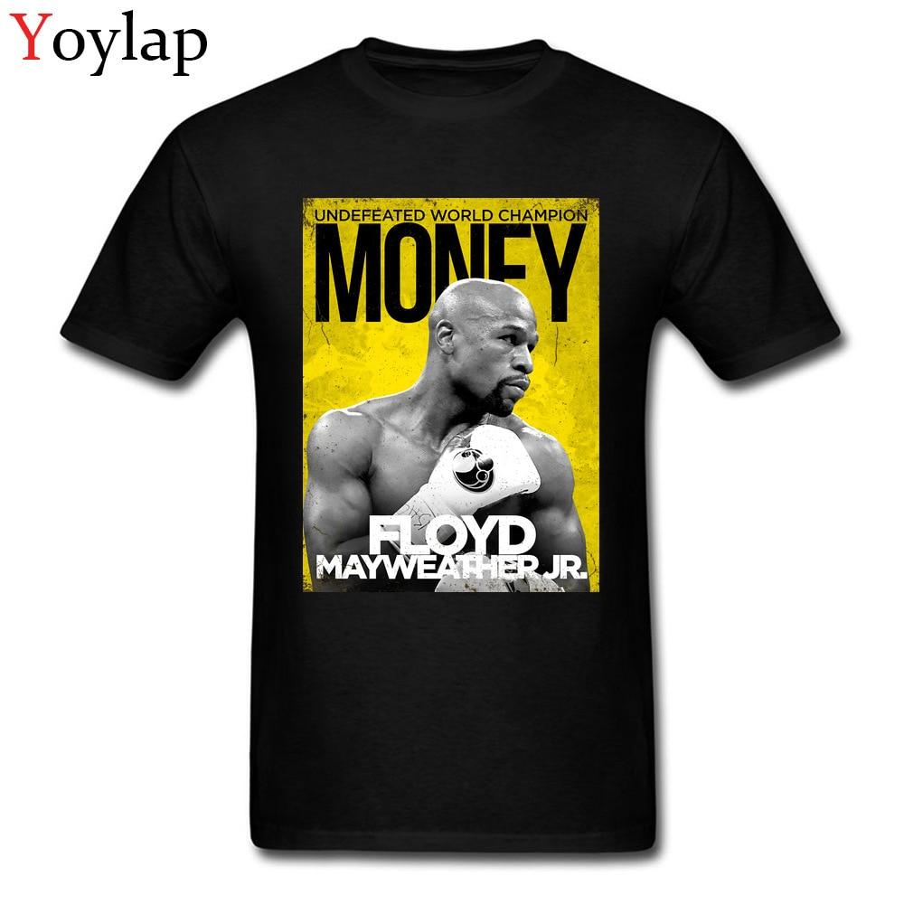 Personnalisé Argent Équipe FLOYD MAYWEATHER Cool T-shirt Pour Homme De Mode Street Wear Noir Tops T-shirts Caractère Affiche