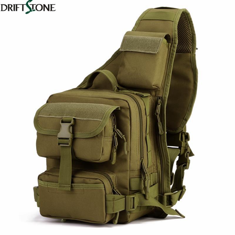 Sac de poitrine simple d'épaule de Sport en plein air escalade sac tactique en Nylon Camping sac à dos militaire sacs d'armée