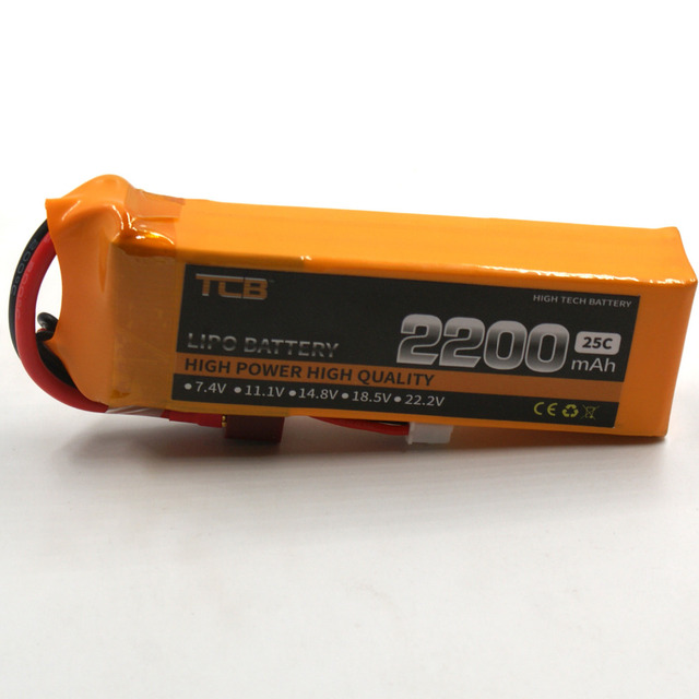 TCB RC lipo battery 11.1v 2200mAh 25C 3s RC airplane Helicopter Rechargeable AKKU Free shipping