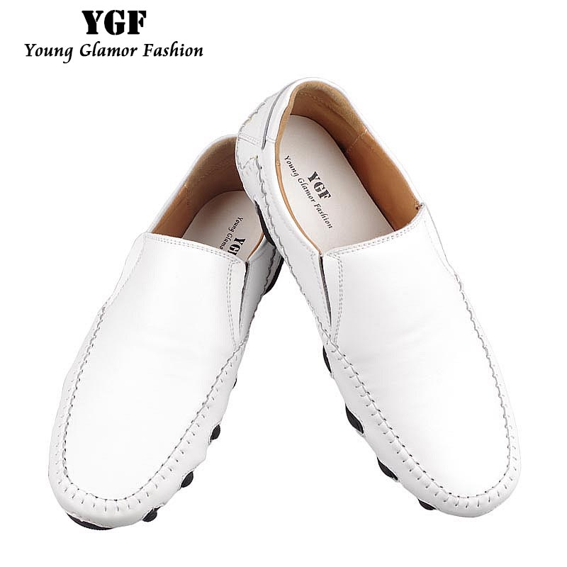 YGF Mens Shoes Genuine Leather Loafers Driving Shoes Casual Breathable Men Shoes Slip on New Spring Summer Male Footwear 2017 new fashion summer spring men driving shoes loafers real leather boat shoes breathable male casual flats