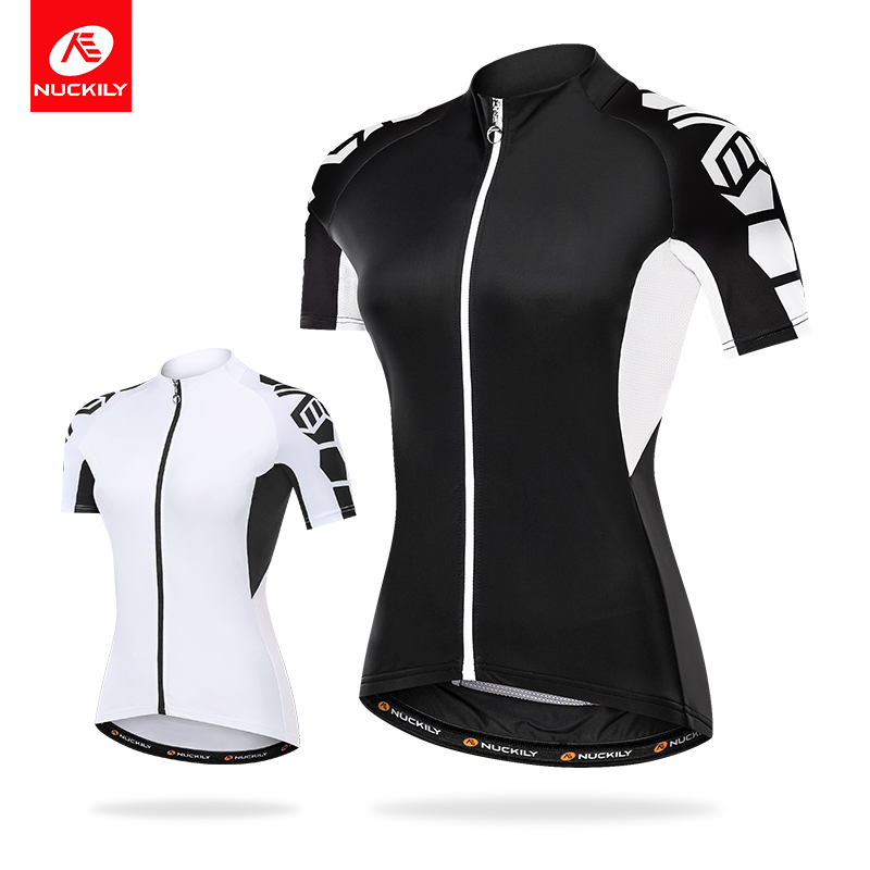 NUCKILY Cycling Jersey Women Bicycle Clothes Elastic Lycra With Breathable Fabric Road Bike Wear ciclismo ropa GG009
