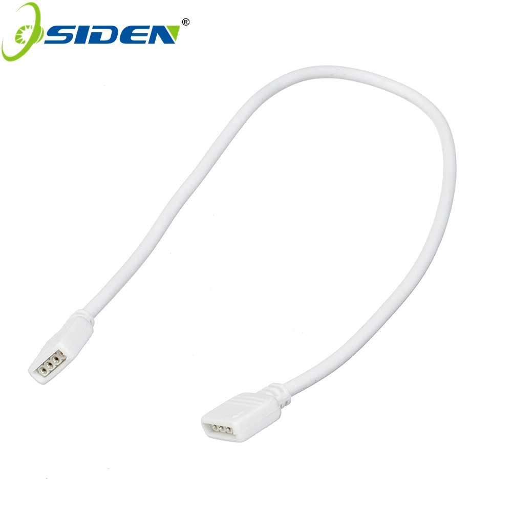 OSIDEN 4-контактный разъем для разноцветных светодиодов кабель-удлинитель шнура провода + 4pin разъемы 1 м 2,5 м 5 м 30 см для SMD 5050 3528 RGB Светодиодные ленты света