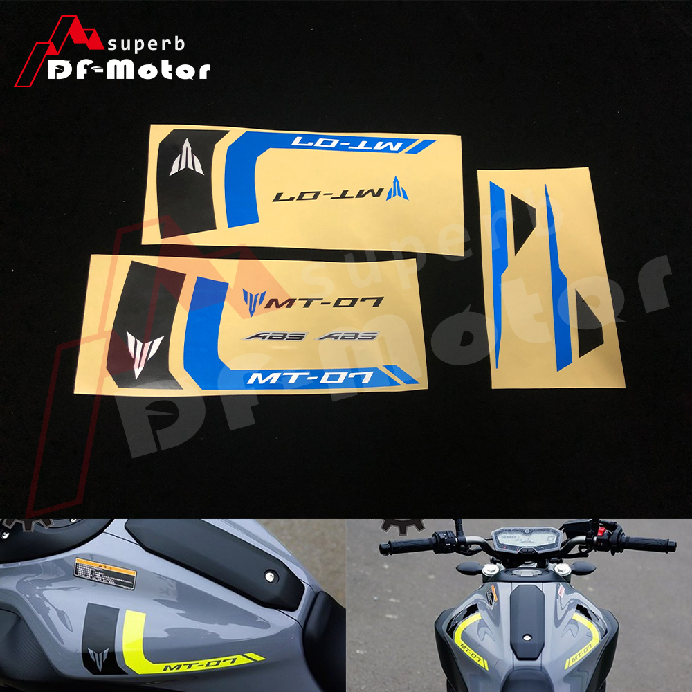 Fit For YAMAHA MT 07 MT07 Decals Reflective Stickers Rim Stripes MT-07 High Quality Motorcycle Racing Sticker DIY Blue Black