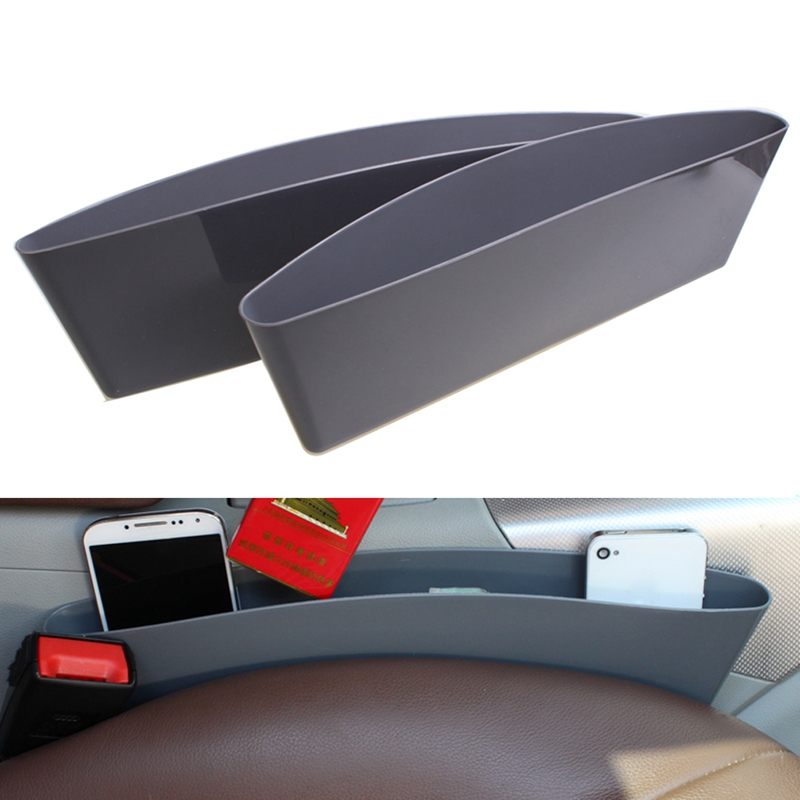 VODOOL Hot Selling 2Pcs Universal Car Seat Pocket Catcher Sundries Container Storage Box Paper Tablet PC Phone Holder
