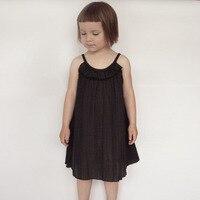 2015 Big Kids Girls Cotton Ruffle Dresses Baby Girl Summer TuTu Fashion Dress Children S Clothing