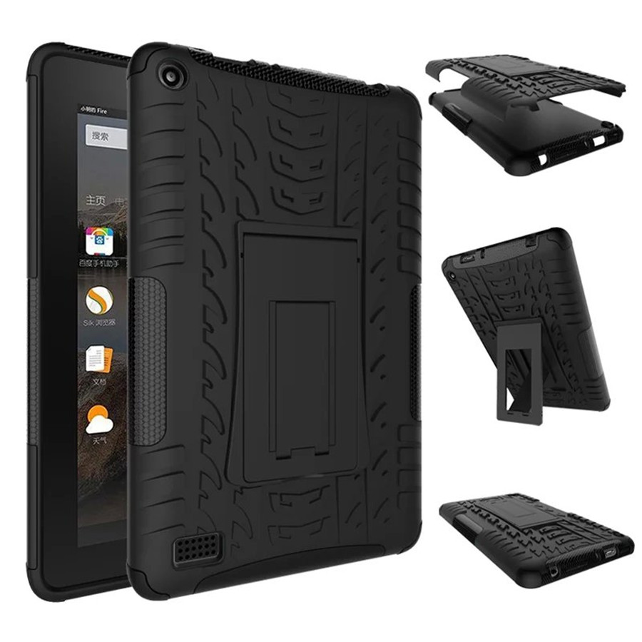 Hot Heavy Duty Armor Tire Style TPU PC Hard Cover Case For Amazon Kindle Fire HD 7 HD7 2015 tablet Skin Robot Cover Case down and out in paris and london
