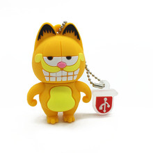 цена на USB Flash drive 128gb Mini Garfield Series Pendrive usb 2.0 4GB 8GB pen drive 16GB 32GB 64GB cartoon animal usb memory disk gift