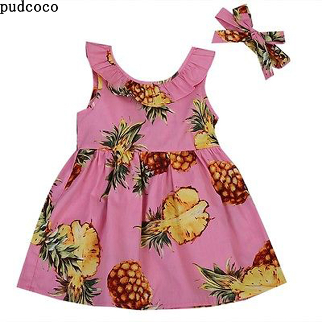 Bunga Gadis Balita Putri Gaun nanas Buah Pink Anak Gaun Pesta Pernikahan  Pageant Floral Dress Pakaian 0a5eb6ddd8