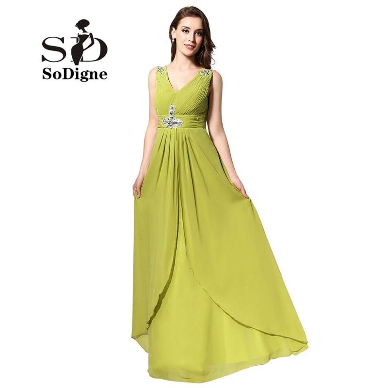 b208972d3 Prom Dress 2018 SoDigne Design Plus Size Evening Dress Chiffon ...