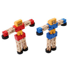 1 Pc Wooden Changeable shape robot DIY Building Blocks Kids Toys for Children Educational Learning Intelligence Gifts(China)