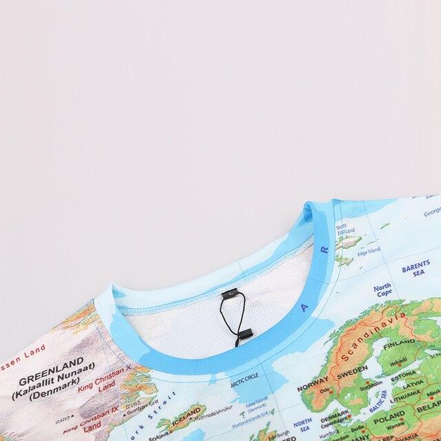 KYKU Brand 3D T Shirt Men World Map T-shirt Funny T Shirts Male 2017 Summer Short Sleeve Anime Tops Tee Fashion Mens Clothing