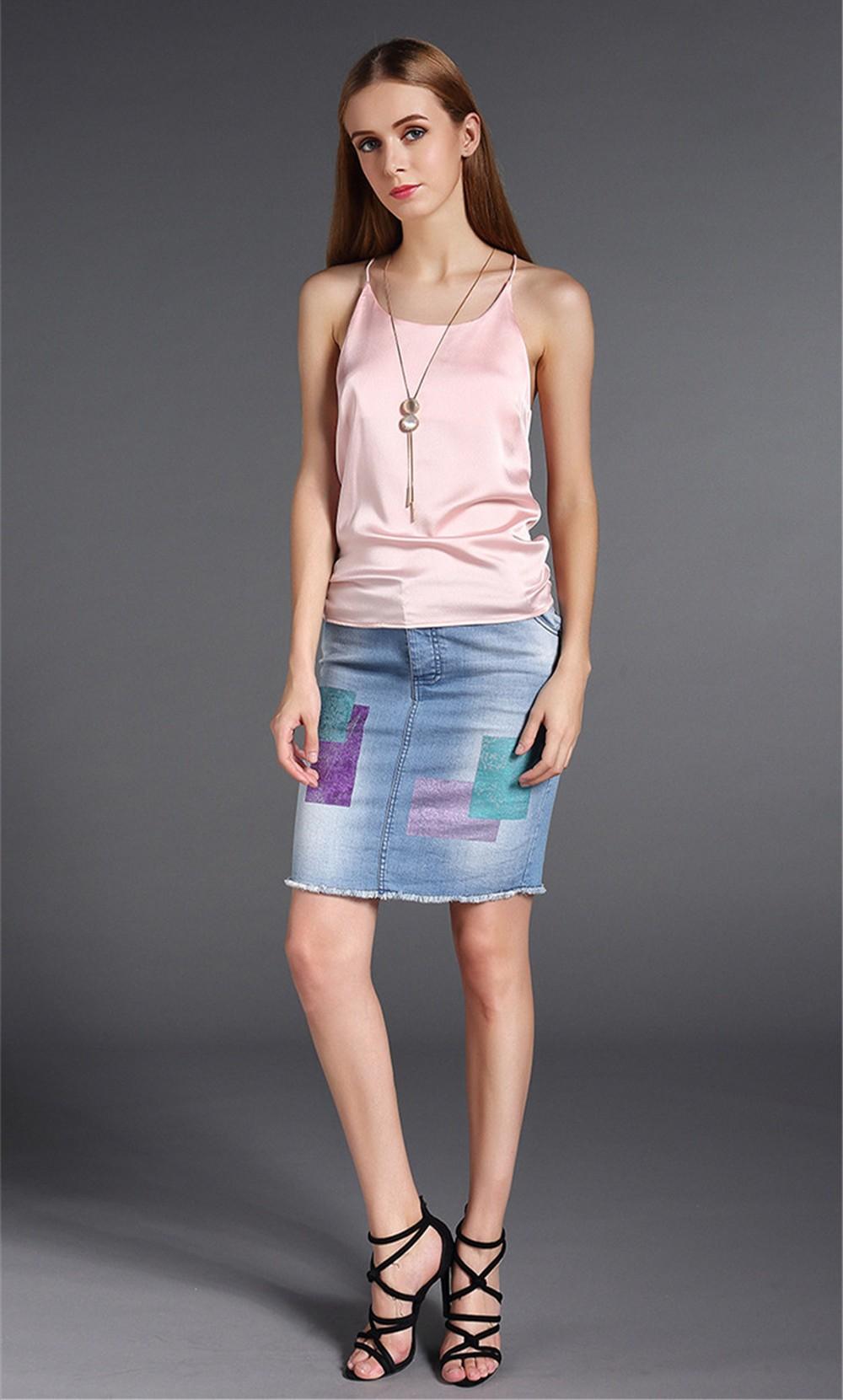 Plus Size S-4XL Multiple Women Tank Tops Brand Silk Blending Sleeveless Tshirt Women Female Shirt Smooth Blouse Blusas Femininas (11)