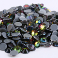 Free Shipping! 1440pcs/Lot, ss6 (1.9-2.1mm) High Quality DMC Rainbow Iron On Rhinestones / Hot fix Rhinestones