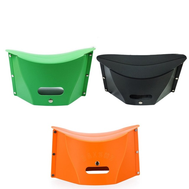 Folding Step Stool Chair Portable Multifunction Plastic Stool Bench Storage  Bag Folder For Fishing Camping Travelling