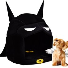 Fashion Pet Beds Black House Batman Dog Kennel Warm Soft Cozy Sleeping Bag Mat For Small Dogs Cats Chihuahua Teddy Rabbit  M/L