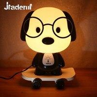 Jiaderui Dog Doctor Skateboard Table Lamp Glasses Dog Cartoon Night Lights Children Bedroom Berth Lamps Creative Gifts Lights