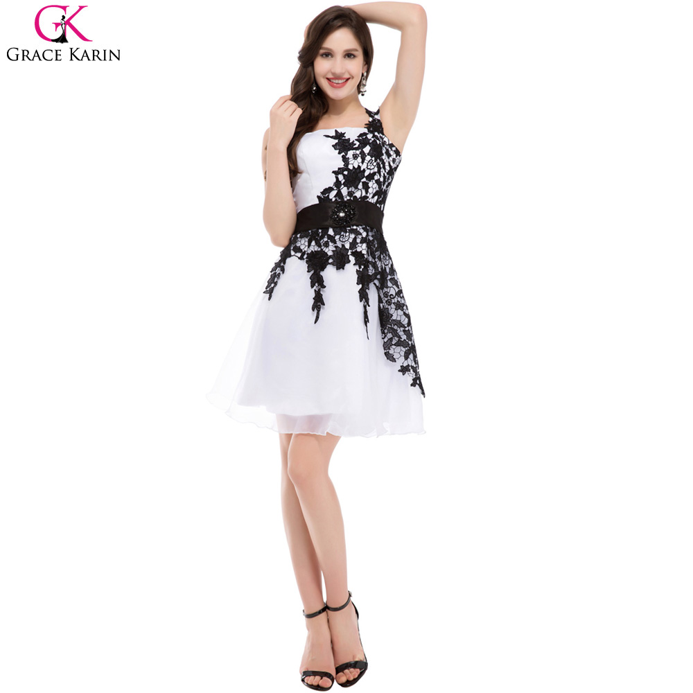 Aliexpress buy short cheap bridesmaid dresses under 50 aliexpress buy short cheap bridesmaid dresses under 50 grace karin one shoulder white blue pink black lace knee length party formal dress 4288 from ombrellifo Image collections