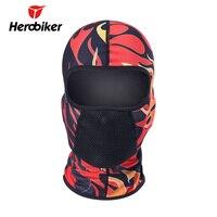 Herobiker мотоцикл маска для катания на лыжах Балаклава мото дышащий пыле Airsoft paintballвелоспорт череп маска мото мотоциклетный шлем