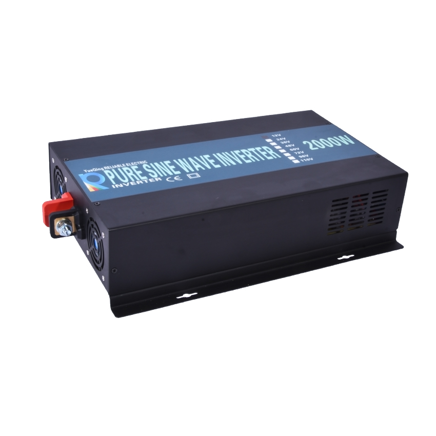 LED display Off grid solar inverter RB-2000S 12/24/48VDC to 110/220VAC 2000 W nominal sinusoidal Pure Wave Power Inverter