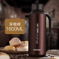 Большая емкость из нержавеющей стали для путешествий на открытом воздухе большой сосуд для горячей воды бутылка