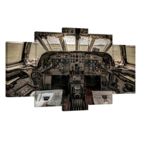 Arte de la pared de Cabina de Avión Viejo Cuadro Digital Junta de Control de Aeronaves Impresiones de la Lona Pintura Home Decor 5 Unidades/AL10185