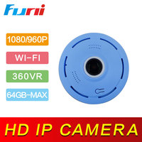 Funi V380 Wireless WIFI IP Camera Fisheye360 2 0MP Support Two Way Audio P2P Wifi Camera