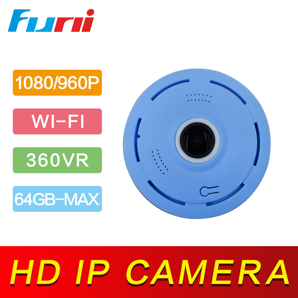 Funi CCTV Camera 360 Degree VR Panorama 1080P HD Wireless IP Camera WIFI Home Security Video Surveillance Night Vision IP Cam