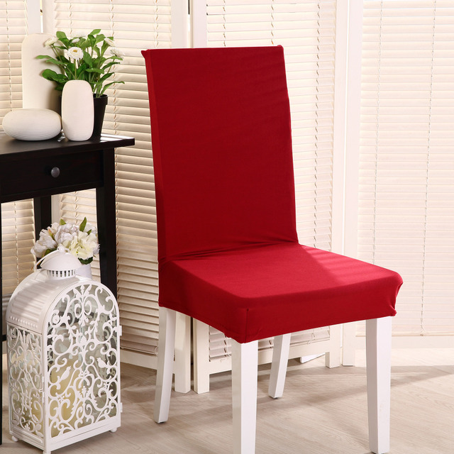 Spandex Solid colour Chair Cover