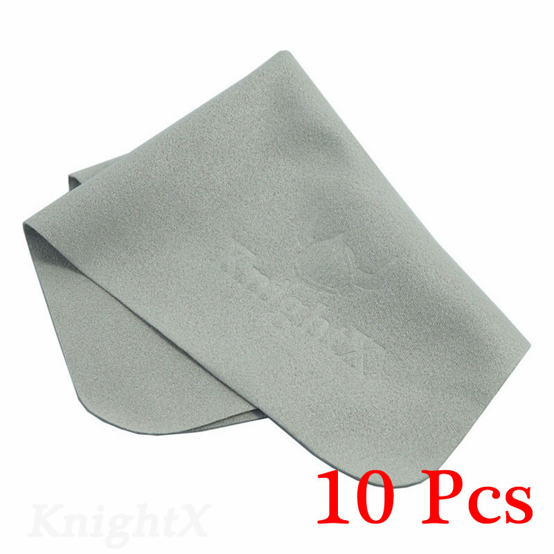 KnightX 10pcs Electronics Cleaning Cloths Lens Cloth for nikon d5300 D5200 for canon 70d camera lens filters uv cpl ND lot matin knit lens cleaning cloth