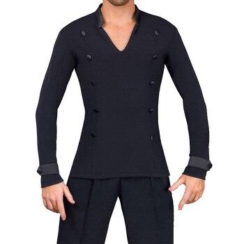 custom men's new V neck long sleeve velvet national standard modern waltz shirt freeshipping