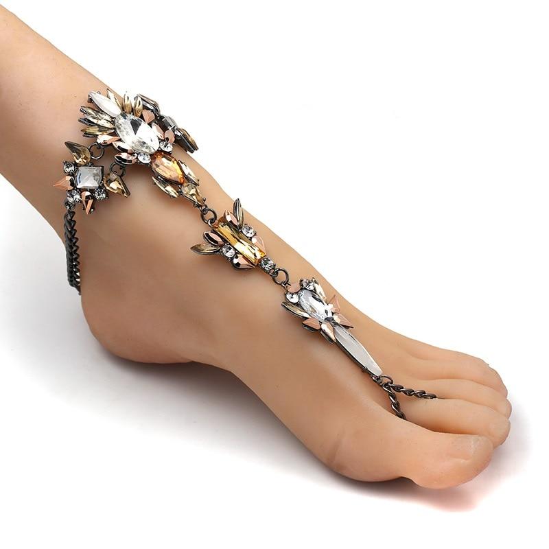 Dropwow Boho Crystal Anklet Australia Beach Vacation Ankle Bracelet ... 6f77aa876596