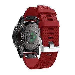 Image 4 - 20 мм ремешок для наручных часов для Garmin Fenix 5S, быстросъемный силиконовый ремешок для Garmin Fenix 5S/5S Plus