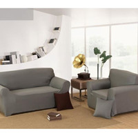1 2 3 4 Couch Stretch Protect Cover Grey Chair Loveseat Sofa Couch Stretch Protector Cover