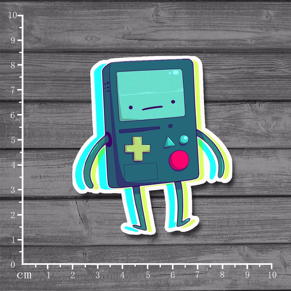 Cute Gameboy BMO Scrapbooking Stationery Graffit Laptop Sticker Home decor jdm Decal For kid Toy Suitcase Stickers[single]