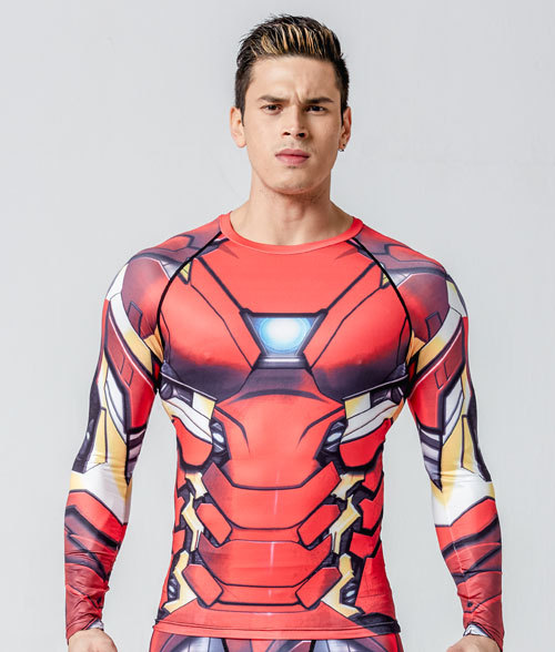 Mens Compression Fitness Leggings & T-Shirt Costume Combo