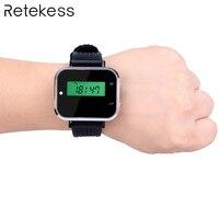 433.92 MHz Horloge Ontvanger Oproep Pager Draadloze Kelner Oproepsysteem voor Restaurant Apparatuur Bank Fabriek F3300A