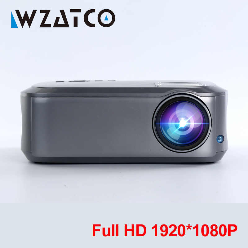Wzatco Full HD 1080P Proyektor 200inchT58 Android 9.0 Wifi LED Proyektor Home Theater HDMI PC Video Game Mobile Projector beamer