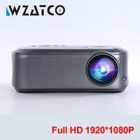 WZATCO Full HD 1080P projecteur 200inchT58 Android 9.0 wifi LED Home cinéma projecteur HDMI PC jeu vidéo Mobile Proyector projecteur