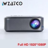 WZATCO Full HD 1080 P проектор 200inchT58 Android 9,0 WiFi СИД проектор HDMI PC видеоигра мобильный проектор
