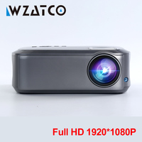 WZATCO Full HD 1080P Projector 200inchT58 Android 9.0 WiFi LED Home Theater Projector HDMI PC Video Game Mobile Proyector Beamer