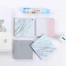Creative Square Marble Sticky Note Memo Pad Cute Kawaii Post It Note For Kids Stationery Gift Free Shipping 3806