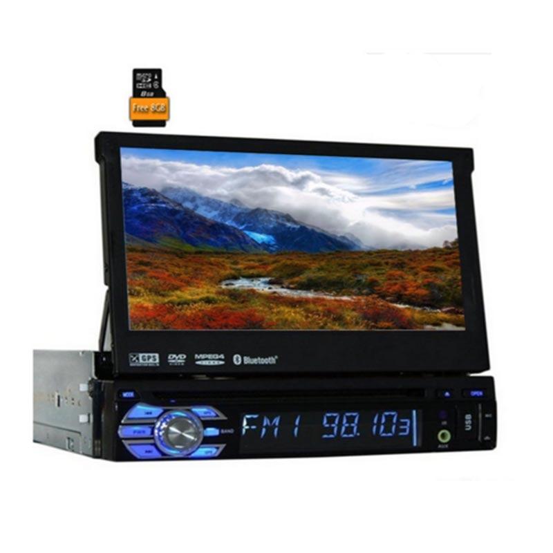 2017 nouveau lecteur dvd de voiture 1din universel 7 pouces coulissant HD numérique tactile GPS voiture audio stéréo Bluetooth voiture auto