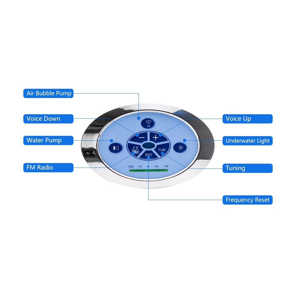 1 conjunto banheira de hidromassagem spa combinação massagem banheira controle chave pressionando à prova dwaterproof água bomba vento fundo luz painel redemoinho fm rádio-1