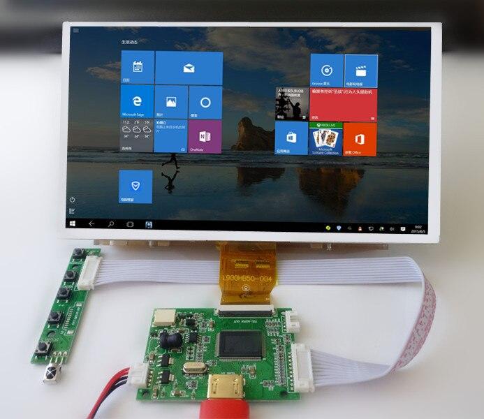 9 pouces 1024*600 HD écran d'affichage LCD TFT moniteur avec carte de commande de pilote à distance HDMI pour Orange framboise Pi 3