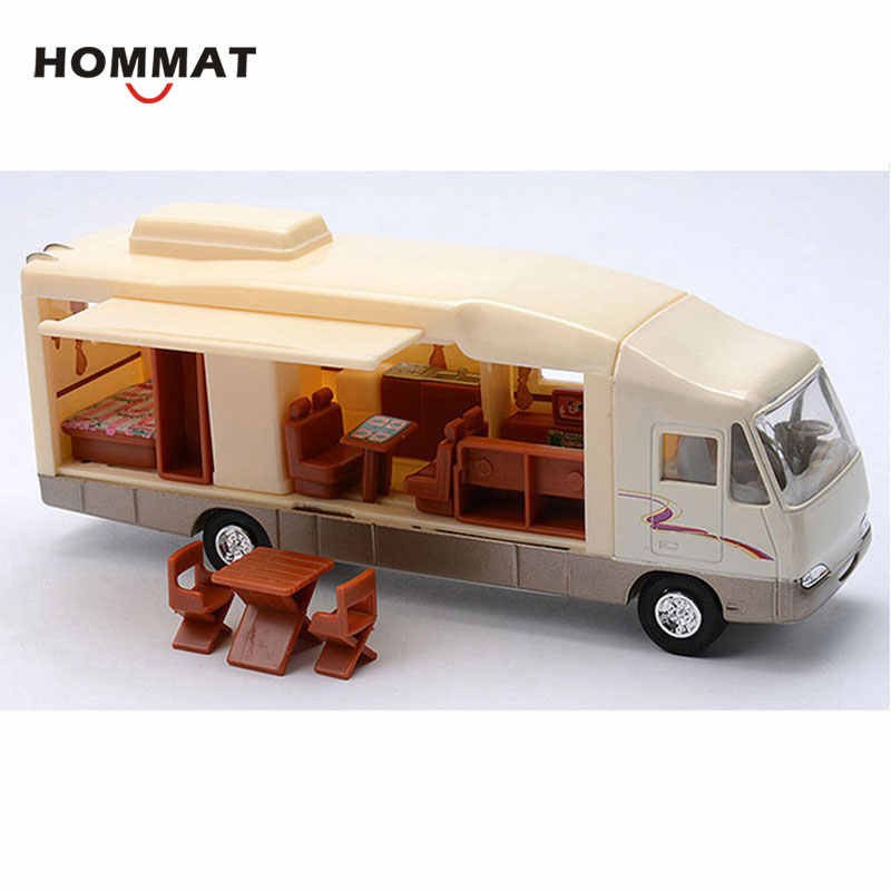 HOMMAT Simulation Luxury Camper Van Motorhome Vehicle Alloy Diecast Toy Car Model Collection Gift Cars Toys For Children