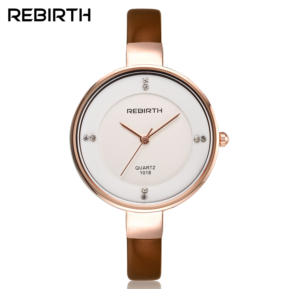 Women Watches REBIRTH Brand Luxury Women Bracelet Wristwatches Casual Slim Elegant Leather Quartz Watch Female Clock reloj mujer